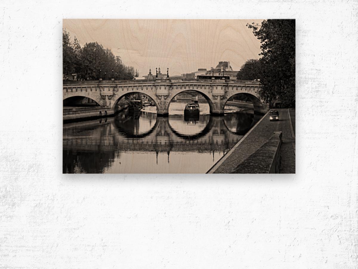 The barge Impression sur bois