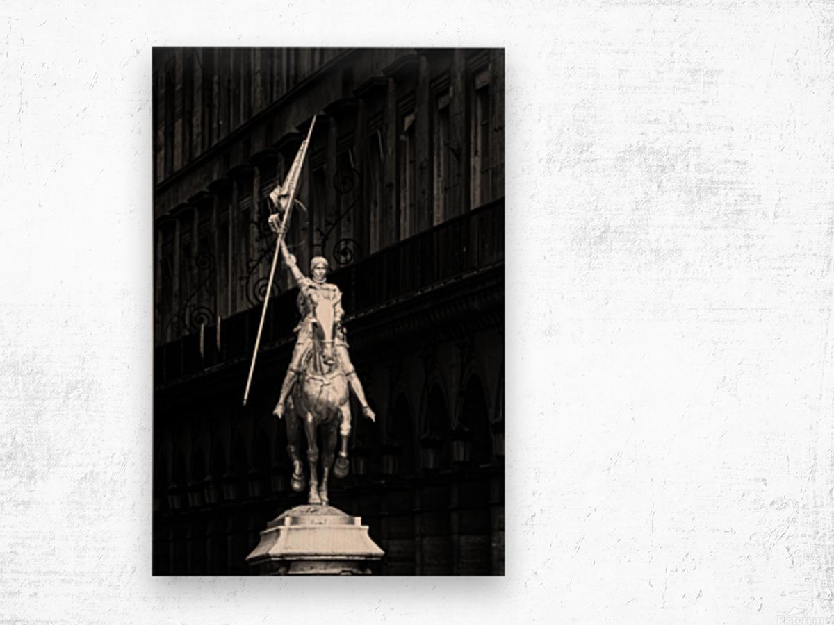 Joan of Arc statue  Impression sur bois