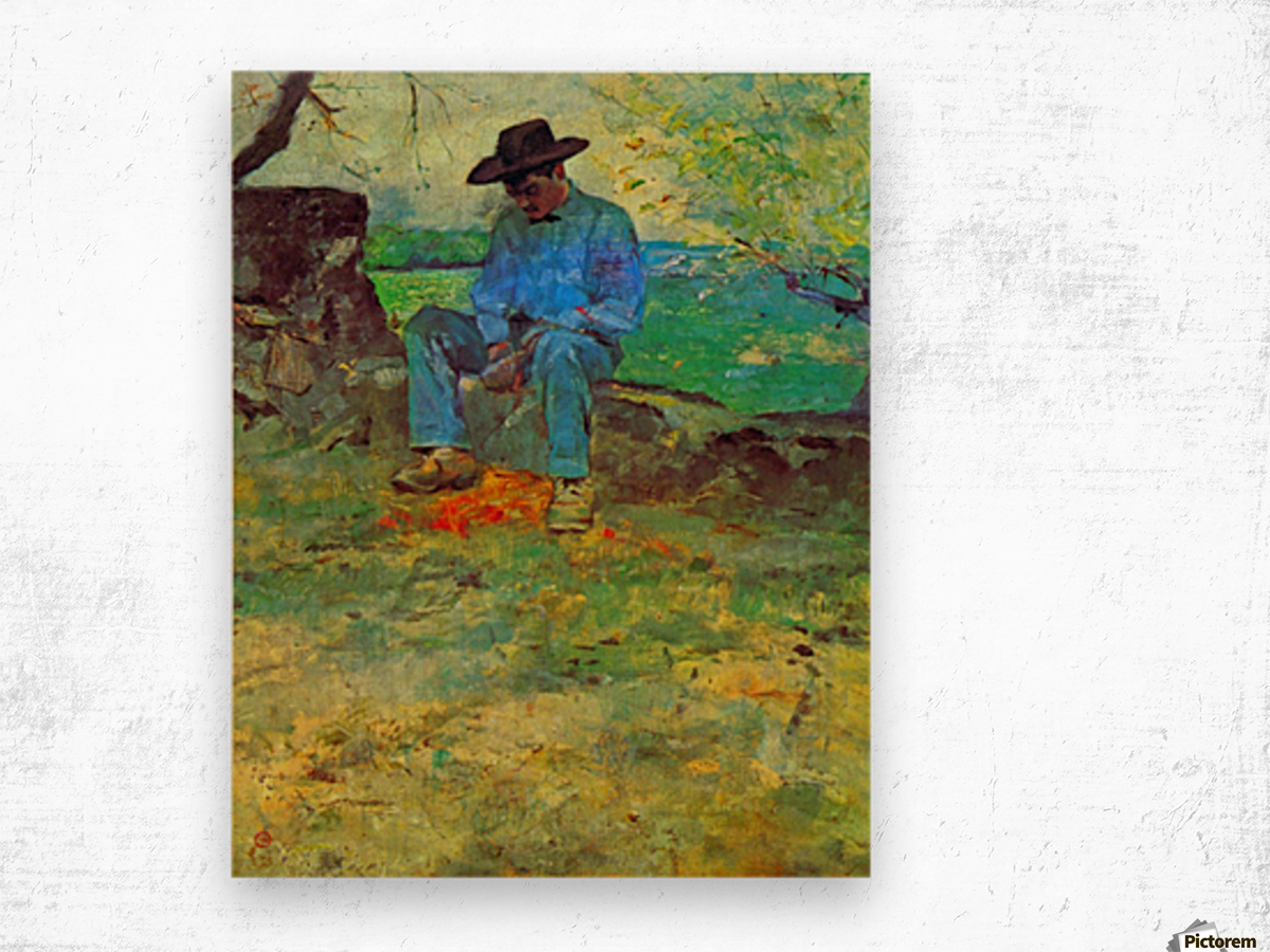 The Young Routy in Celeyran by Toulouse-Lautrec Wood print