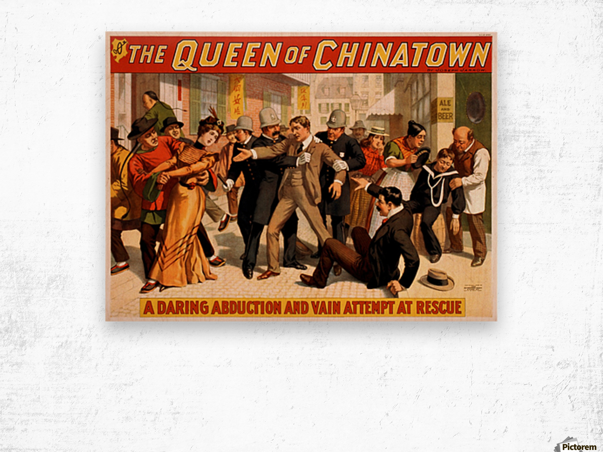 The Queen of Chinatown, 1899 Wood print