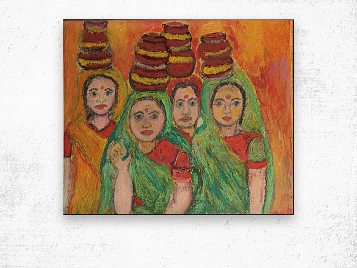 women  Wood print