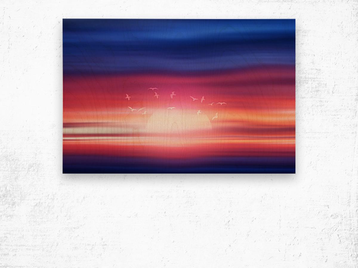 Abstract Movement XVII Wood print