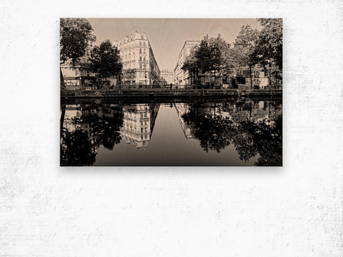 Canal Saint Martin reflection Impression sur bois