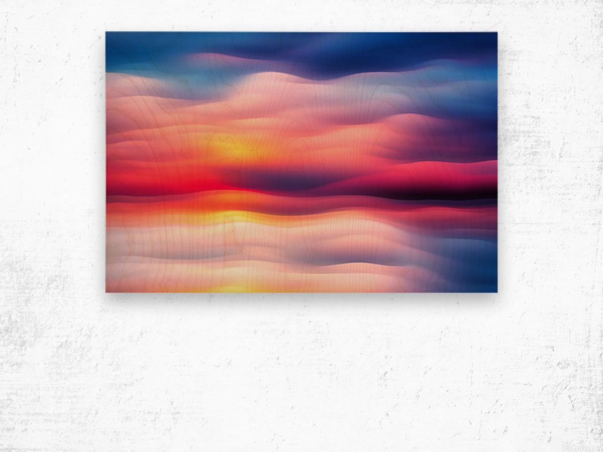 Abstract Movement XVIII Wood print