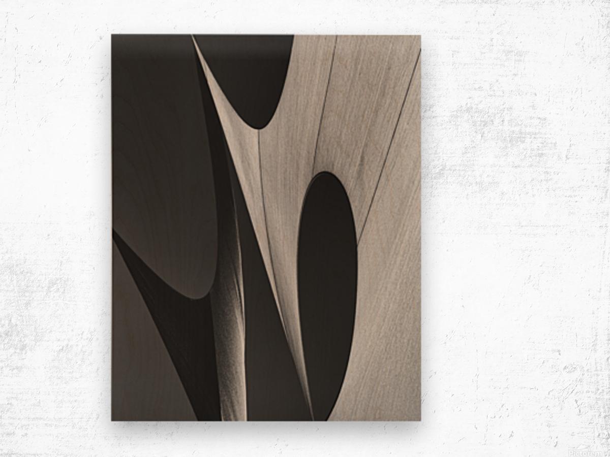 Abstract Sailcloth 11 Wood print