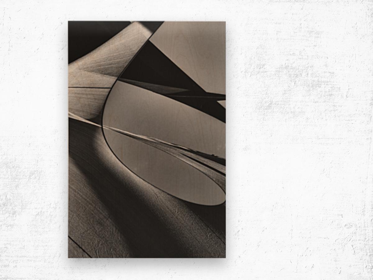 Abstract Sailcloth 13 Wood print