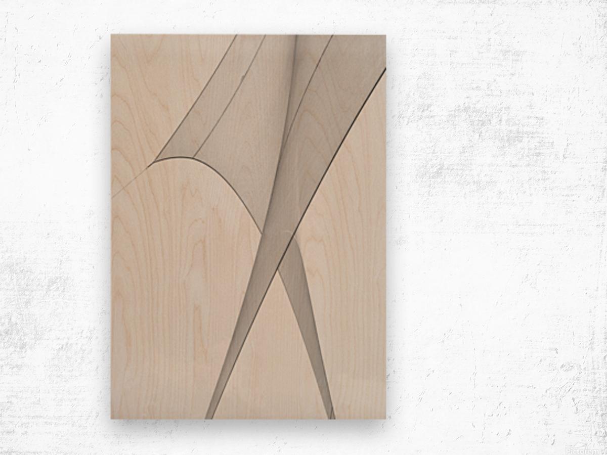 Abstract Sailcloth 3 Wood print