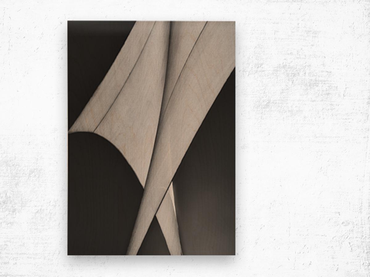 Abstract Sailcloth 9 Wood print