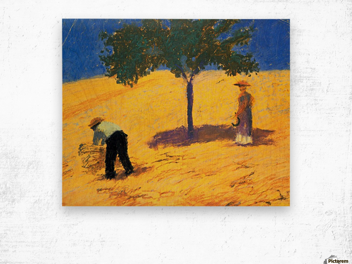 Tree in Cornfeld by Macke Wood print