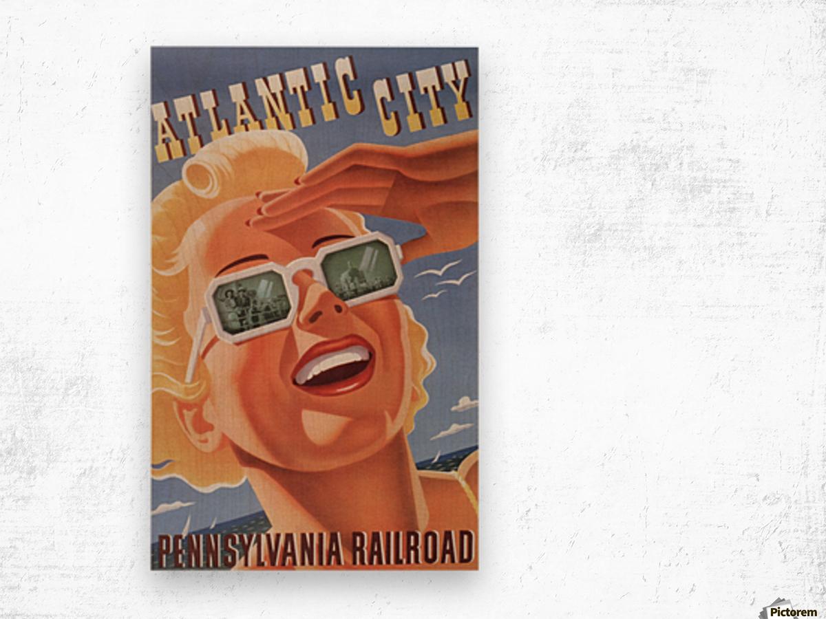 Atlantic City Pennsylvania Railroad Original Poster Wood print