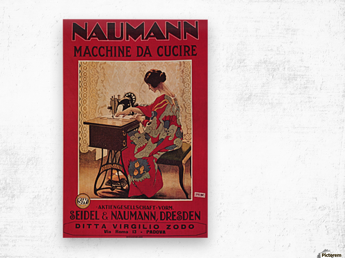 Naumann Sewing Machine Wood print