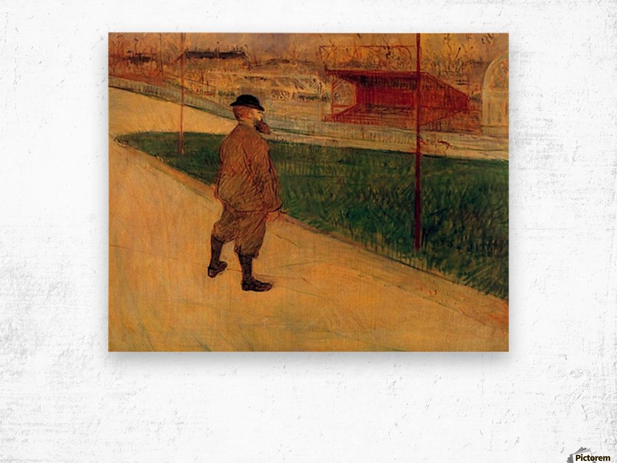 Tristan Bernard by Toulouse-Lautrec Wood print