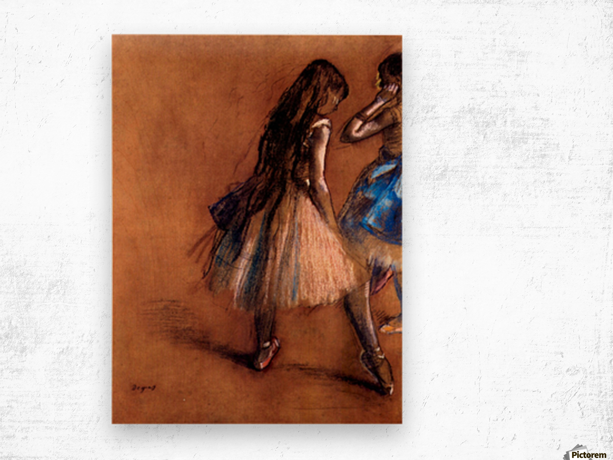 Two dancers 1 by Degas Wood print