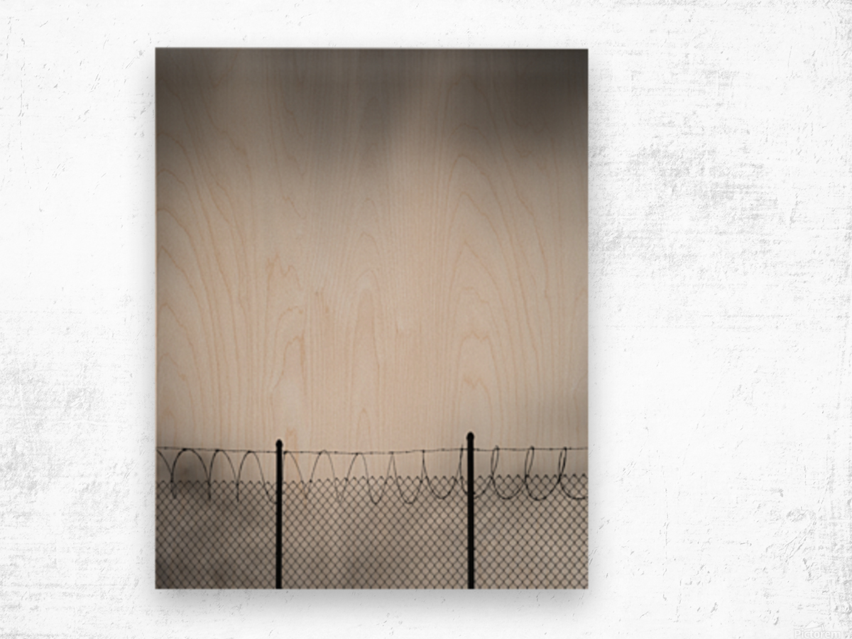 Restricted Zone Wood print