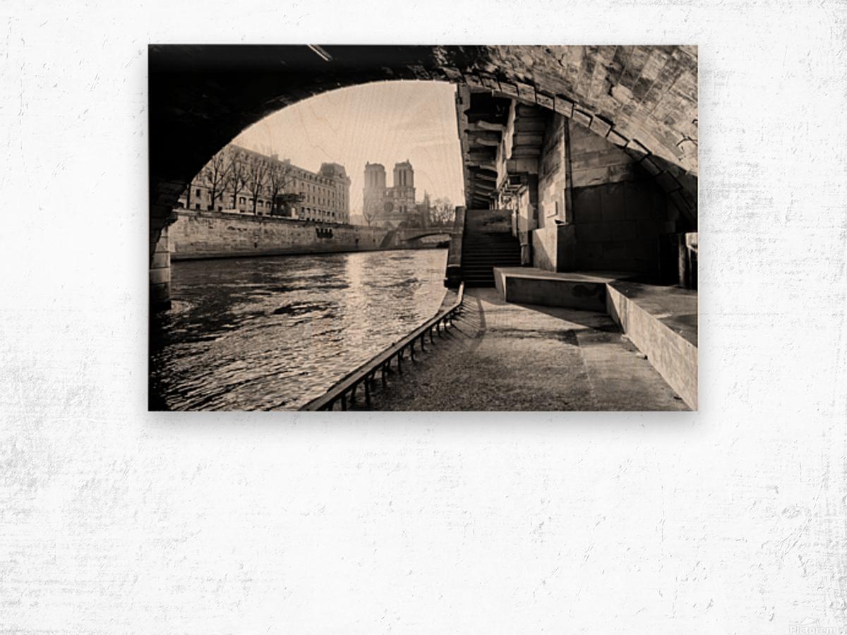 Under the bridge Impression sur bois