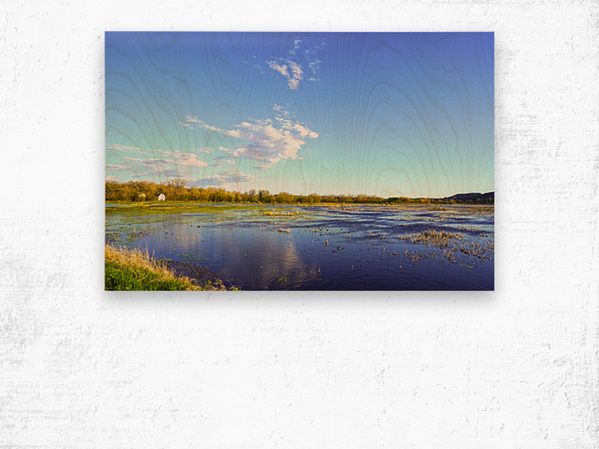 Beautiful Day at the Estuary Wood print