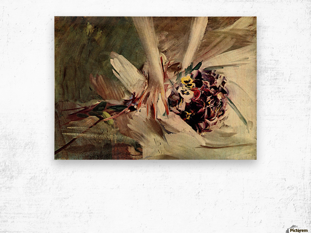 The Pansy by Giovanni Boldini Wood print