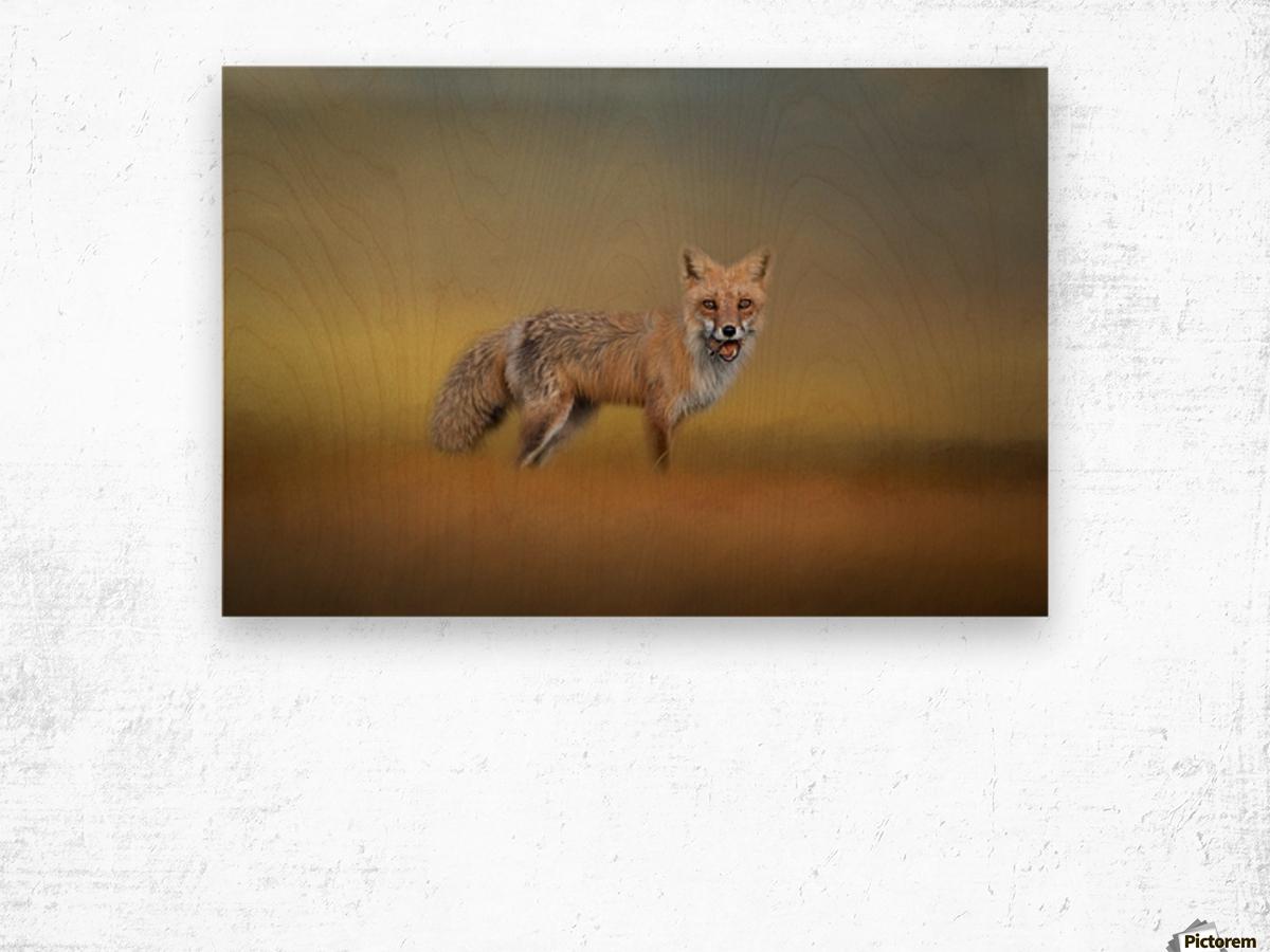 Foxy Wood print