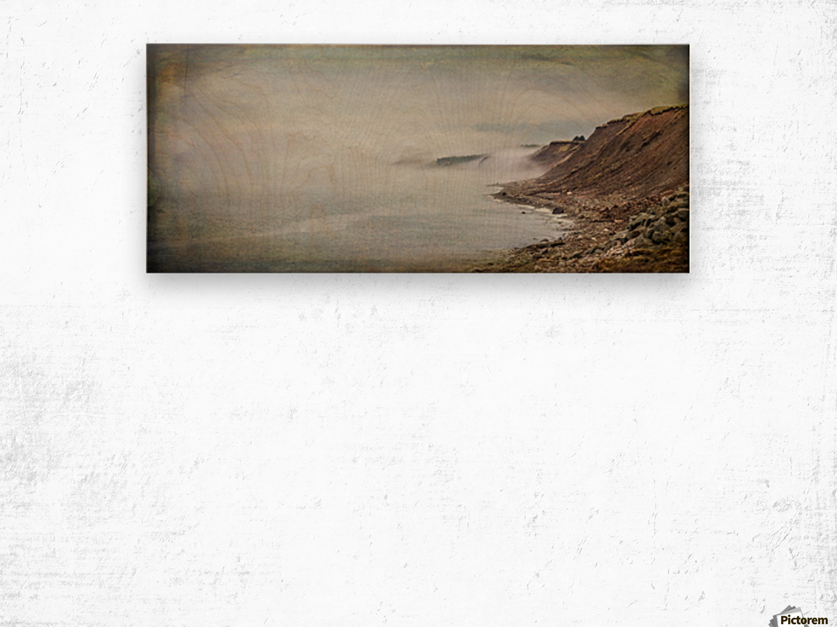 Fog in Grand Etang - Cape Breton Wood print