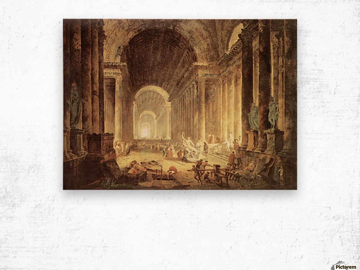 The Finding of the Laocoon Wood print