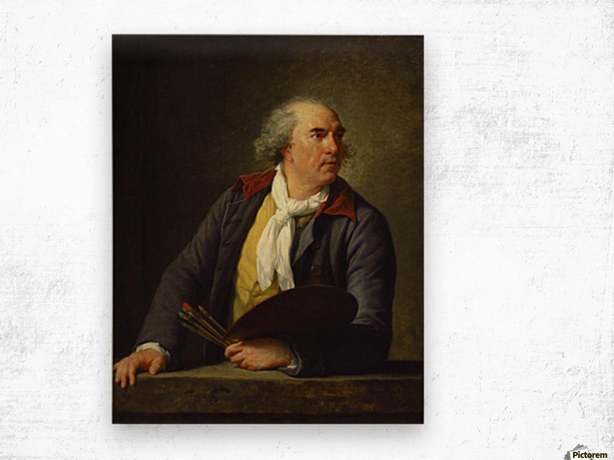 Portrait of Hubert Robert, 1788 Wood print