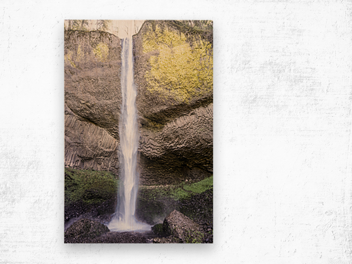 Spring at the Falls in The Gorge - Columbia River Oregon Wood print