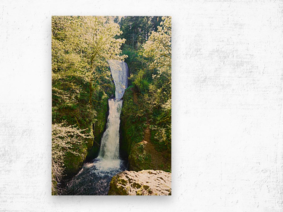 Falls in The Gorge 2   Columbia River Oregon Wood print