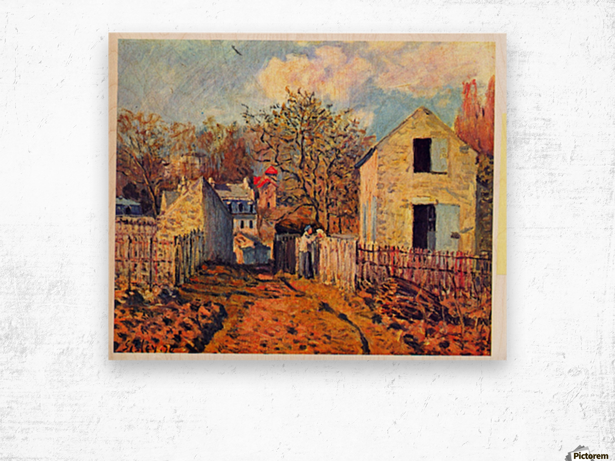 Village of Voisins (now part of Louveciennes) by Sisley Wood print
