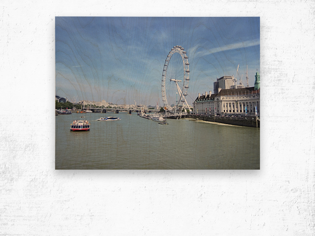 Snapshot in Time Quintessential London 4 of 5 Wood print