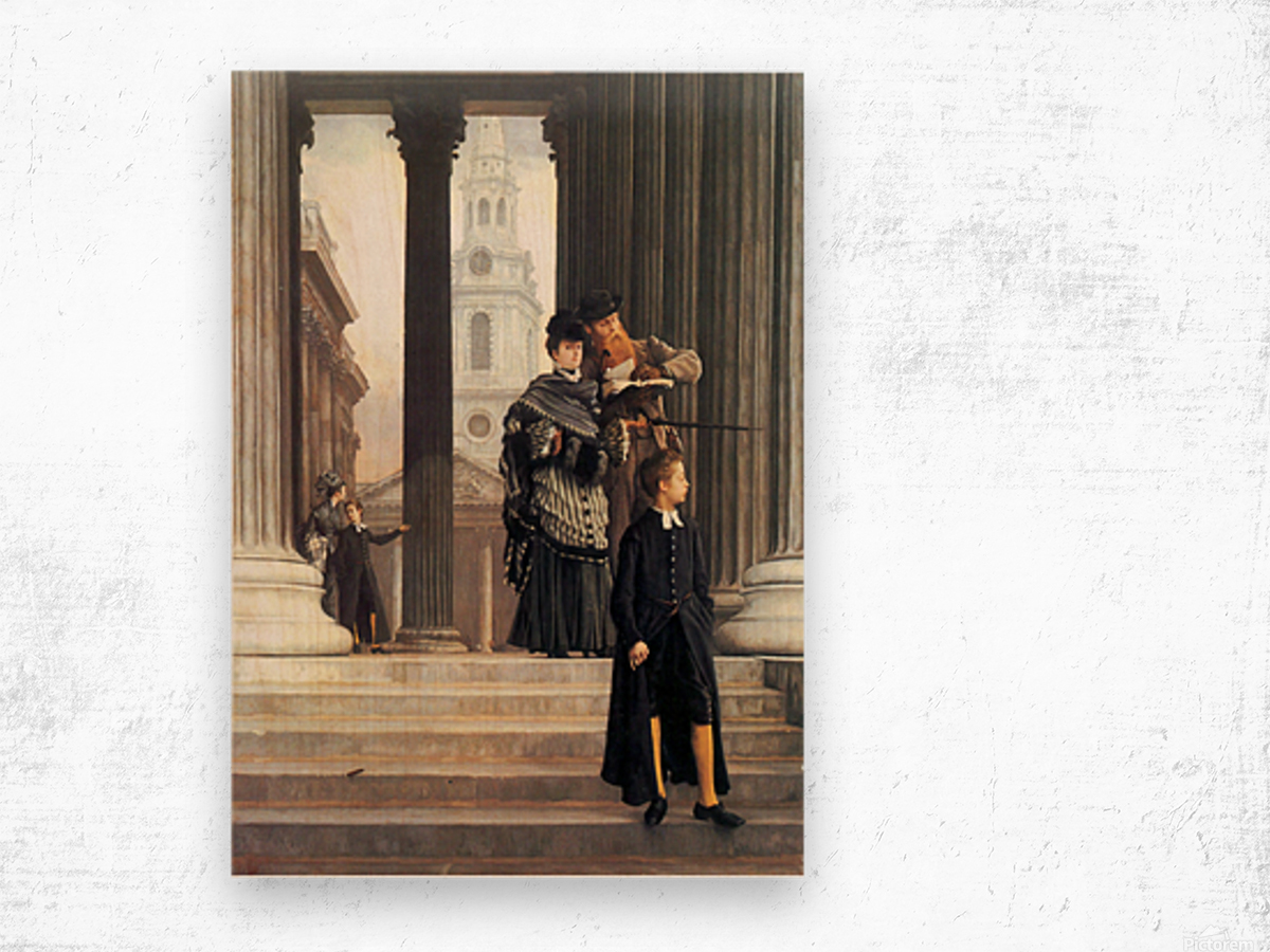 Visitors in London by Tissot Wood print