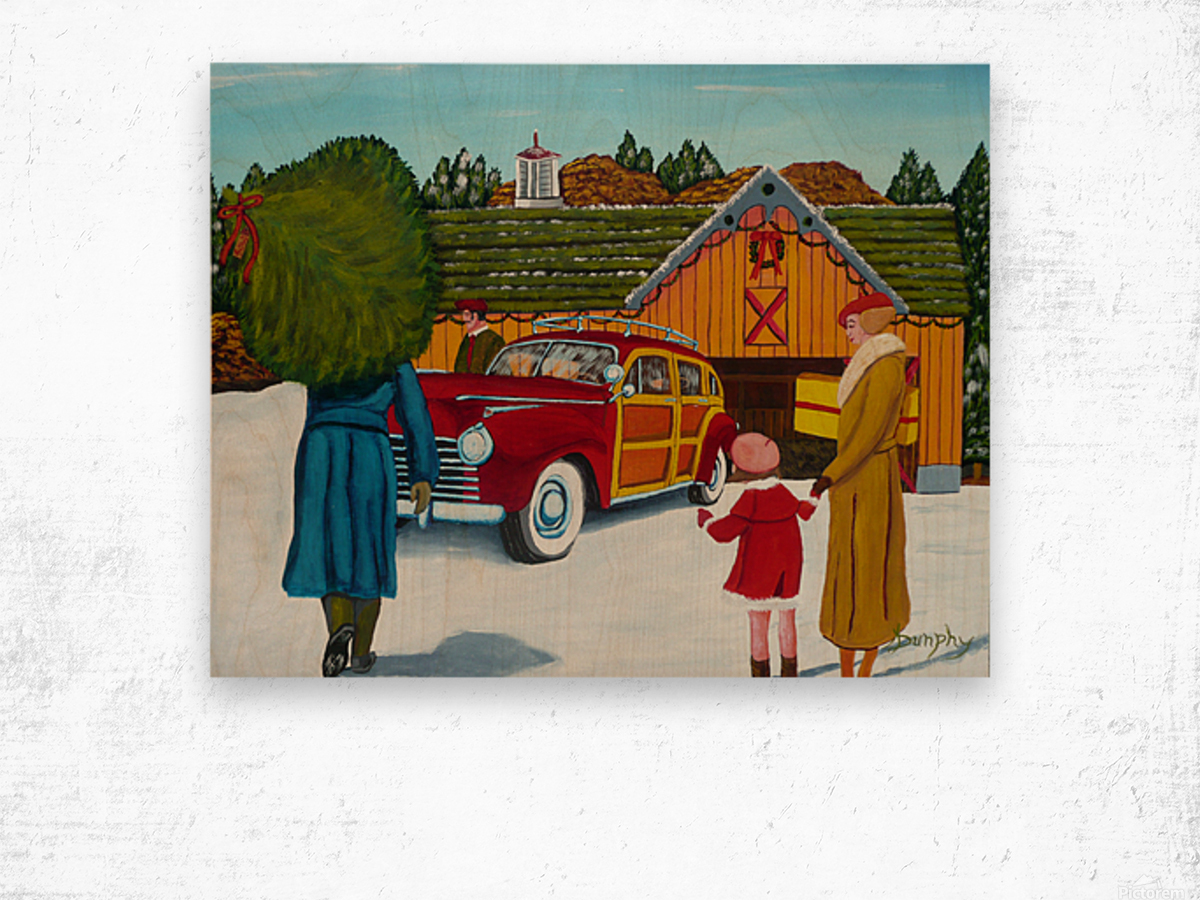 Buying The Tree Wood print