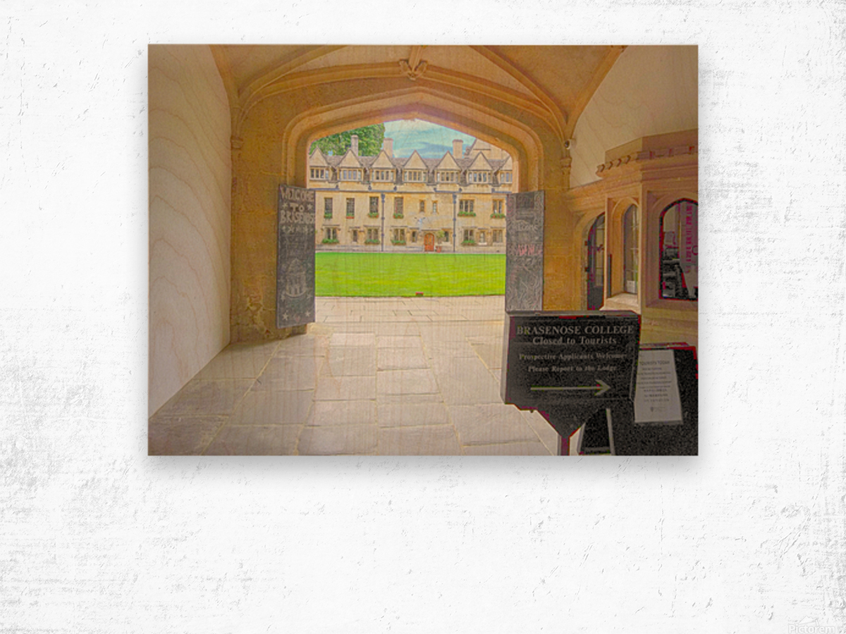 Snapshot in Time Presents a Visit to Oxford 4 of 8 Wood print