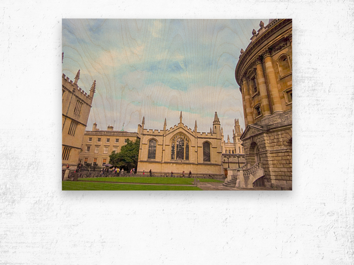 Snapshot in Time Presents a Visit to Oxford 2 of 8 Wood print