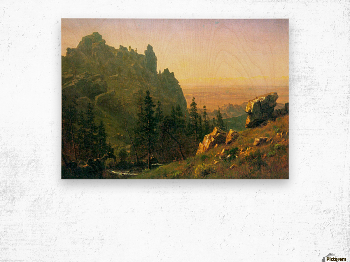 Wind River Country by Bierstadt Wood print