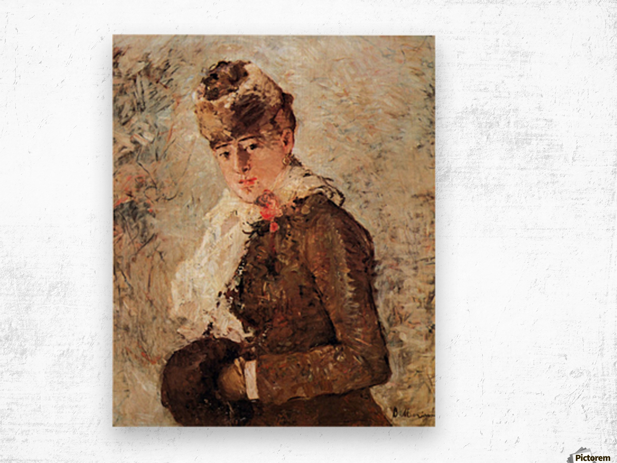 Winter (woman with Muff) by Morisot Wood print