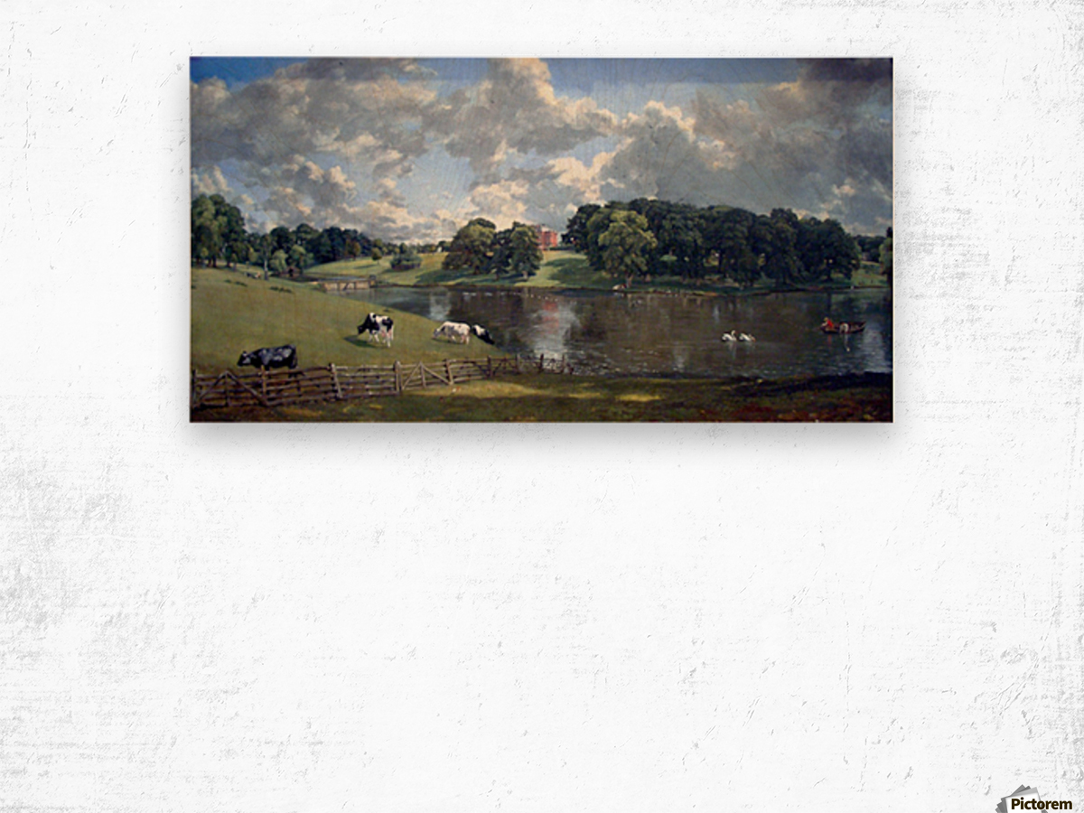 Wivenhoe Park by Constable Wood print