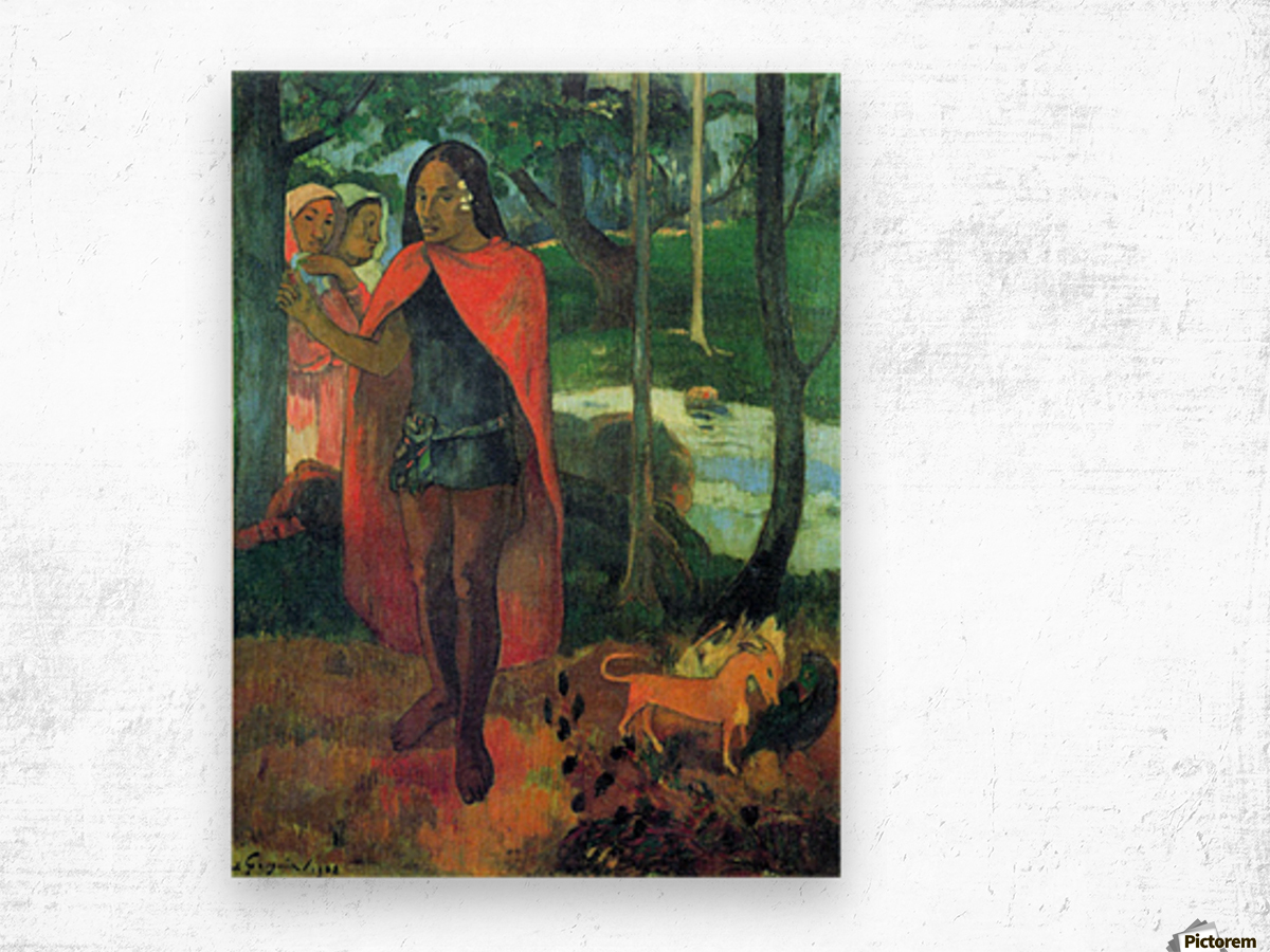 Wizard of Hiva-Oa by Gauguin Wood print