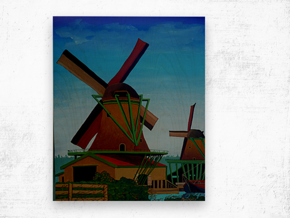 Catching The Wind Wood print