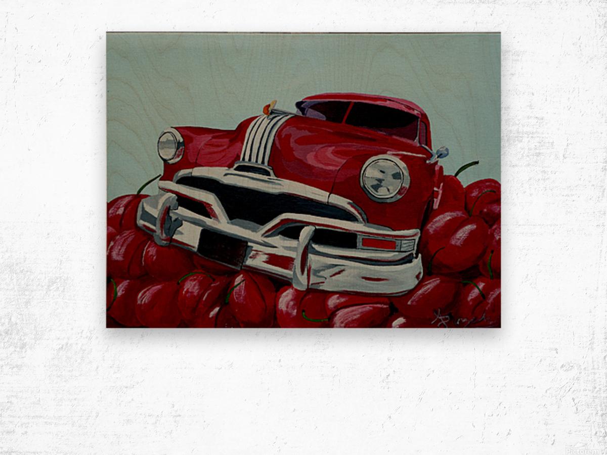 Cherry Ride Wood print