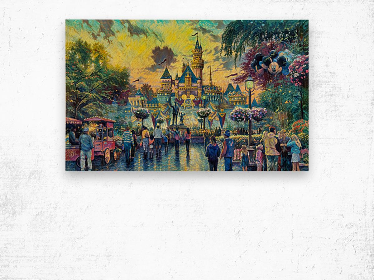 Day At Disney Wood print