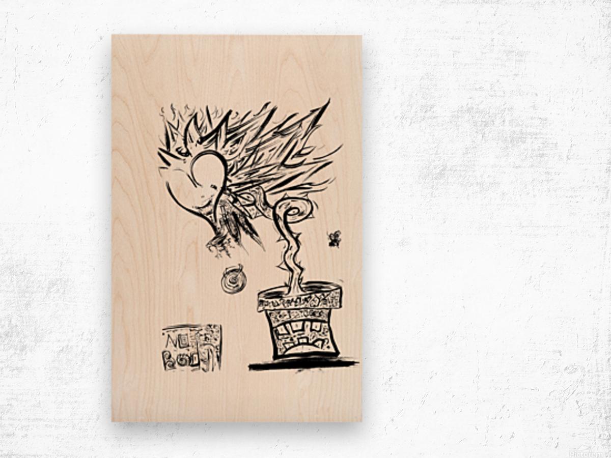 2021 heart flower  Wood print