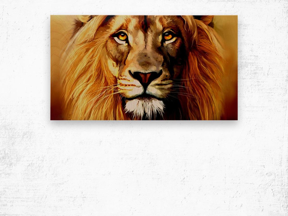 Majestic Beast  Wood print