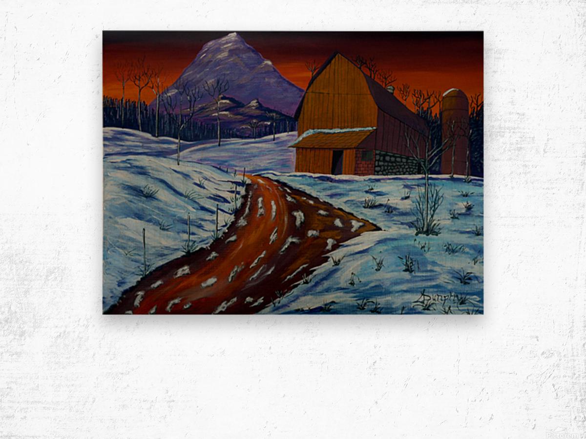 Country Dawn Wood print