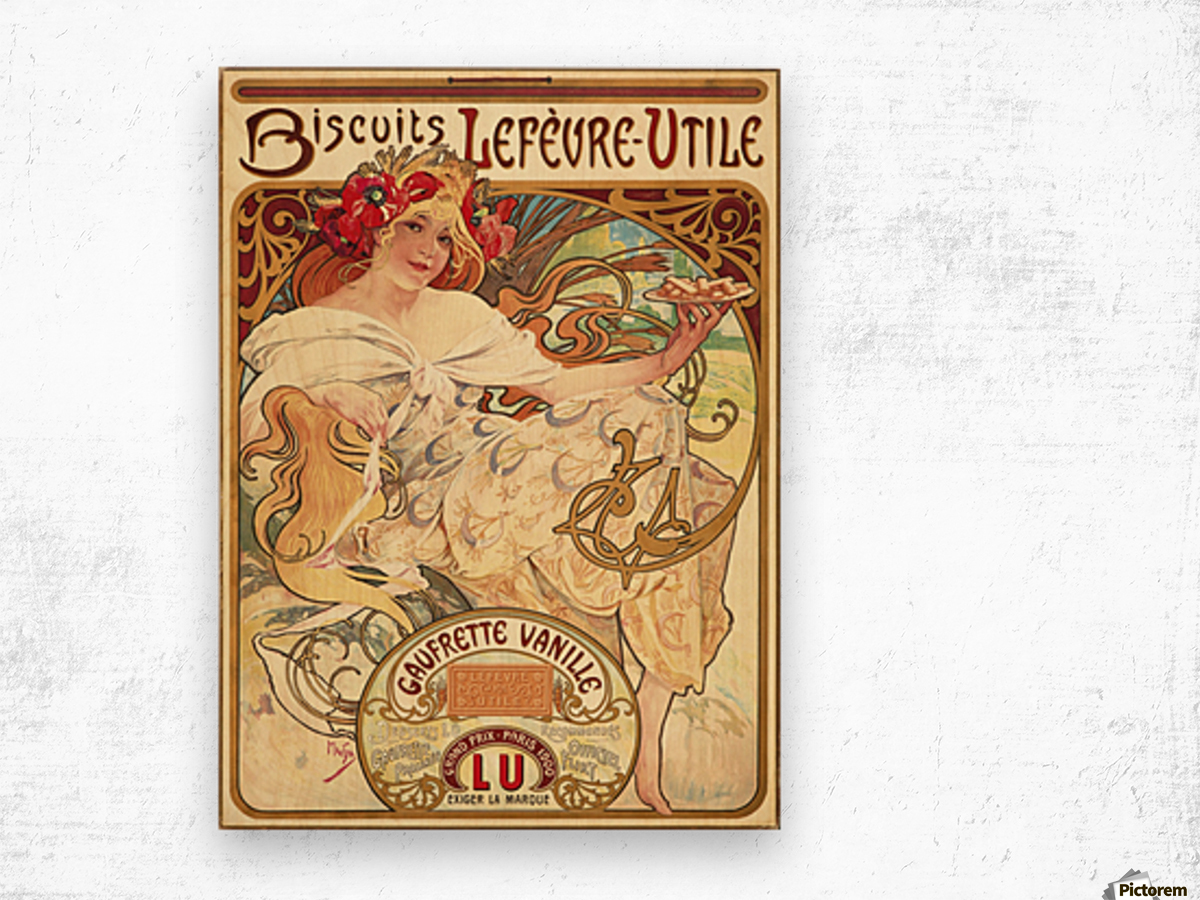 Biscuits Lefevre-Utile Impression sur bois
