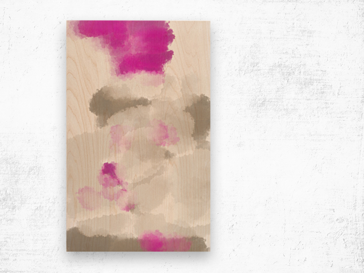 ABSTRACT PAINTING 03 Wood print