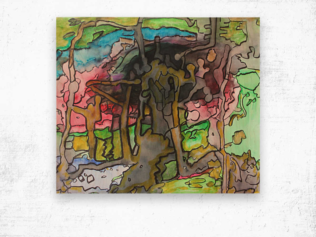 Abstractforest Wood print