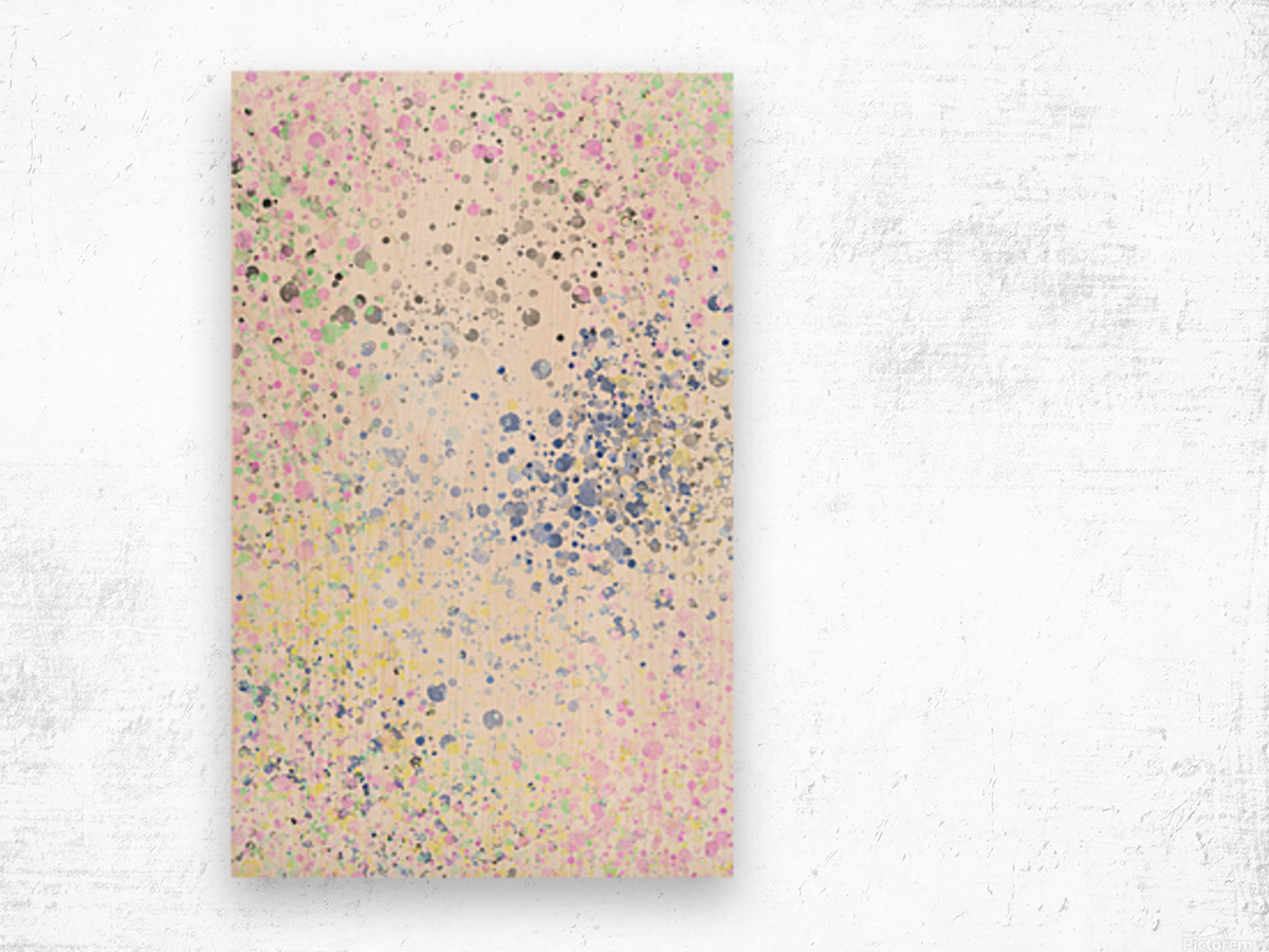 ABSTRACT PAINTING 40 Wood print