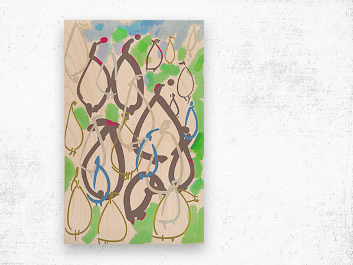 ABSTRACT PAINTING 88 Wood print