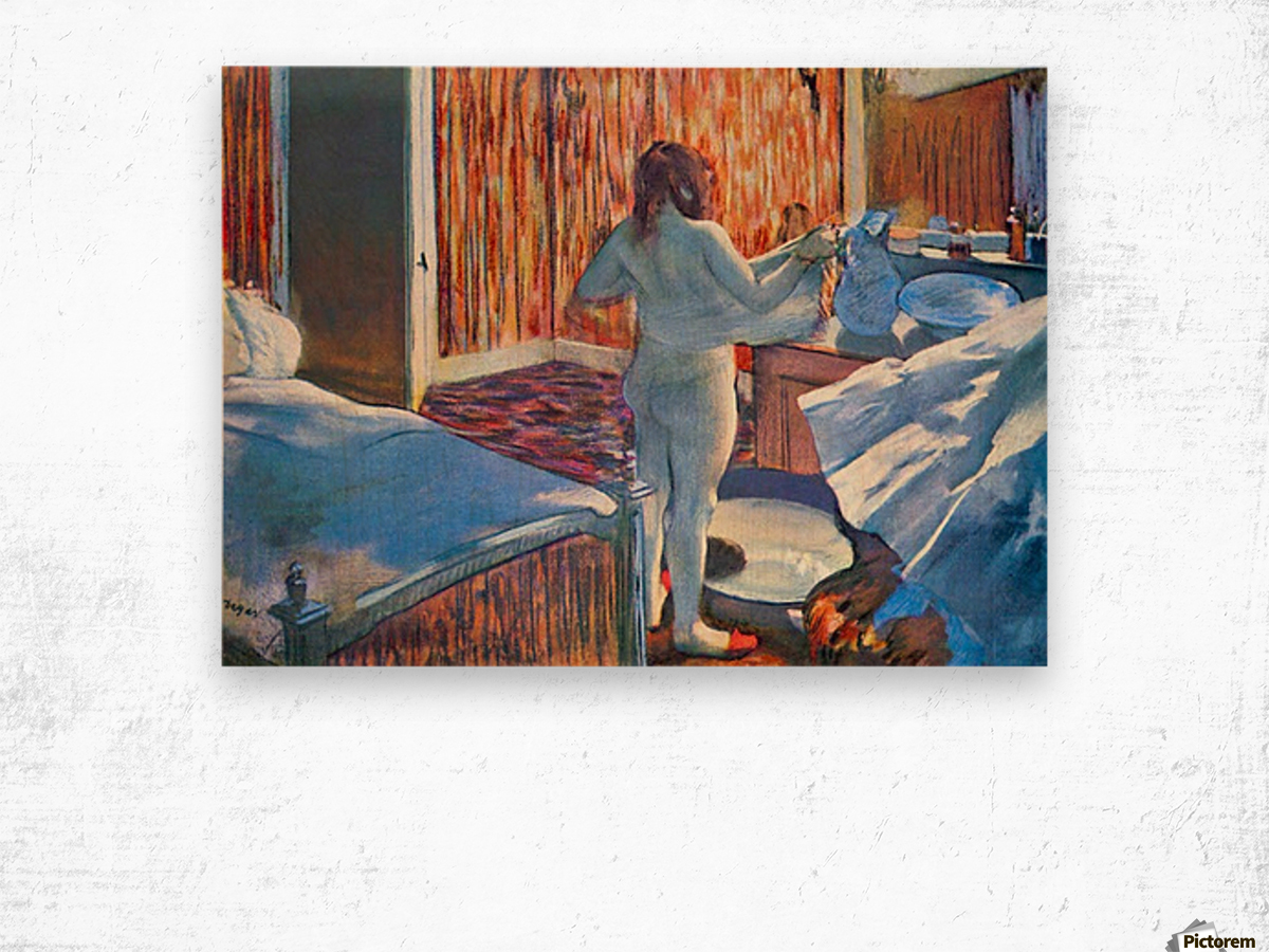 Women at the toilet 3 by Degas Wood print