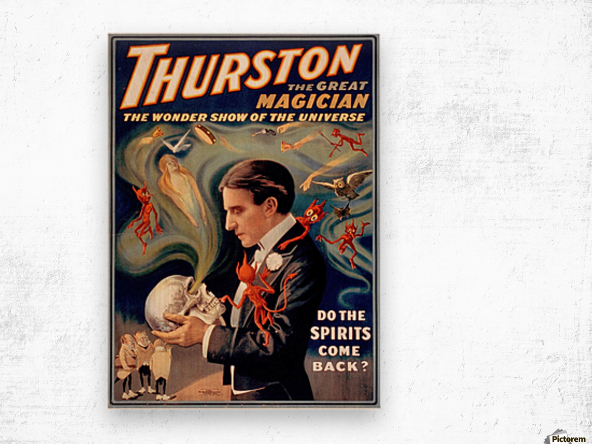 Thurston the Great Magician Vintage Poster Wood print